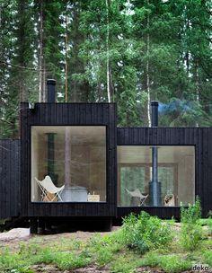 leuk - prachtig minimalistisch, zwart hout