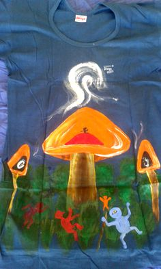 mushroom party front and back
