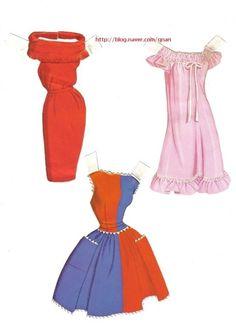 boneca de papel (Barbie): blog Naver