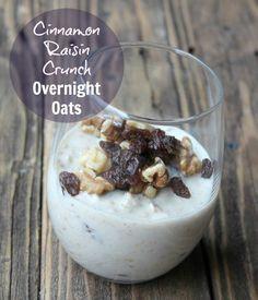 Cinnamon Raisin Crunch Overnight Oatmeal #tastethegoodness