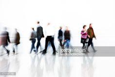 Stock Photo : Blurred Pedestrians in Corridor