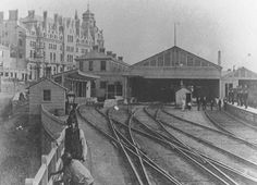 What a great photo of The Duke of Cornwall and the station where Plymouth Pavilions is now! Plymouth, Devon