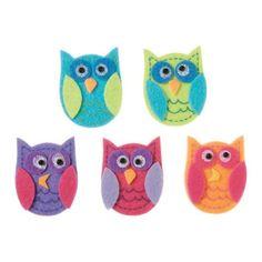 Darice Felties Funky Owls Felt Stickers. Cardmaking/Crafts  | eBay
