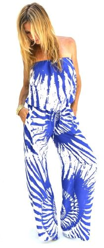 Ramona LaRue Tony Jumpsuit in Blue Shells