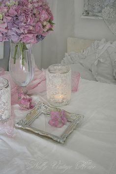 nelly vintage home: Pink hydrangeas