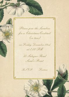 Hellebore Christmas Rose by John Derian for Paperless Post. Send custom online holiday party invitations with our easy-to-use design tools and RSVP tracking. View more holiday invitations on paperlesspost.com.  #christmas #flowers #frame #birth_of_jesus #chirstmas
