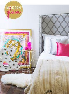 Adore Home magazine - Blog - Modern GlamBedroom