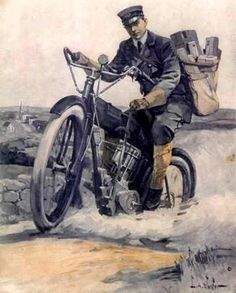 mailman on motorcycleish vehicle Foto Picture, You've Got Mail, Going Postal, London History, History Timeline, Snail Mail, Mail Art, Historical Photos, Vintage Advertisements