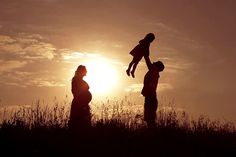 Beautiful shot of happy family: pregnant mother, father and little daughter at sunset. Happy Mother Day Quotes, Happy Fathers Day, Picture Poses, Picture Video, Photo And Video, Pregnant Mother, Walt Whitman, Photo Instagram, Maternity Pictures