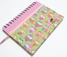 Caderno Espiral Médio - Folhas Coloridas