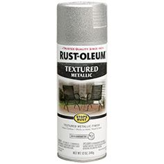 The distinctive texture of Rust-Oleum® Stops Rust® Textured Spray adds depth to your paint job with an upscale look that lasts and lasts, even in outdoor settings. Perfect for a wide range of projects, from chairs and tables to swing sets, tool chests and more.