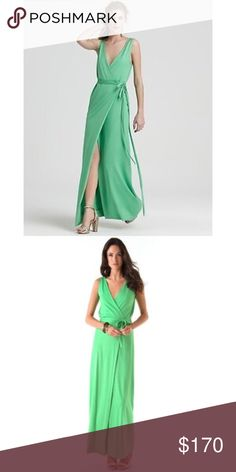 DVD Yahzi lime green maxi dress Absolutely beautiful jersey wrap dress. Excellent condition. Purchased in bloomingdales few years ago. Got lots of compliments wearing it. Offers are welcome Diane von Furstenberg Dresses Maxi