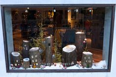 woodland village anthropologie window display