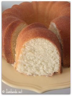 FABULOUS recipe!!! If you are looking for a good recipe for pound cake YOU have to make this one. It was my 1st time making a pound cake and using a bundt cake pan, it turned out just like the picture and tastes Wonderful too!!! Don't forget to buy some strawberries to top it off.