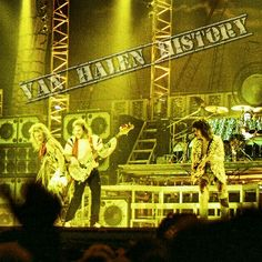 """""""PHOTO* OF THE MIGHTY VAN HALEN ON NIGHT 1 OF THEIR [1984 TOUR OF THE WORLD] TOUR AT [JACKSONVILLE COLISEUM - JACKSONVILLE FLORIDA] JANUARY"""