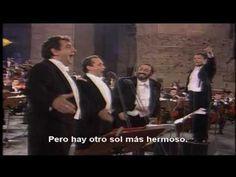 Los tres tenores, O´sole mio y Nessus dorma Subtitulado al español