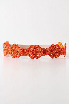 Orange Beaded Bowline Belt  #anthropologie