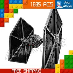 93.99$  Watch here - http://ali8x2.worldwells.pw/go.php?t=32789791381 - 1685pcs New Star Wars Universe 05036 Tie Fighter Model Building Blocks Toys Kit blaster pistol Compatible with Lego 93.99$