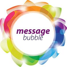 Message Bubble Vector Graphic — colorful, frame