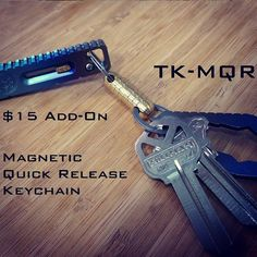 TK - MQR    Magnetic Quick Release Keychain.  Only $15.  See it on Kickstarter now.