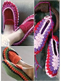 crocheted slippers : pattern