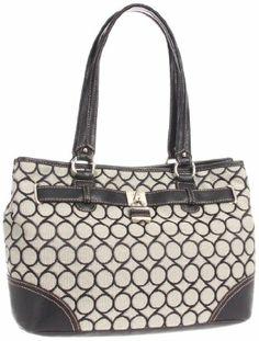 Amazon.com: Nine West 9 Jacquard 0240002NW Satchel,Black/Ivory/Black,One Size: Clothing