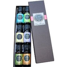 Top 6 100% Pure Therapeutic Grade Basic Sampler Essential Oil Gift Set- 6/10 ml (Eucalyptus, Lavender, Lemongrass, Orange,...