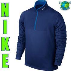 New Mens Nike Golf Tour Performannce Dri Fit 1/2 Zip Msrp $80 639883-455 Size2XL #NikeGolf #ShirtsTops