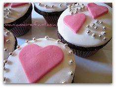 Cupcake al cioccolato... (S. Valentino in anticipo!)
