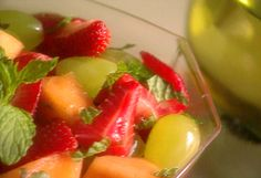Summer Fruit with Wine and Mint from FoodNetwork.com