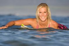 Bethany Hamilton-surfer...amazing story.  Any excuses now?