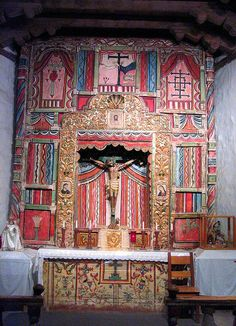 Altar at Chimayo, New Mexico, Visit Santa Fe, The City Different, Charming New Mexico Style, New Mexico Usa, Chimayo New Mexico, Wyoming, Travel New Mexico, Arizona, Santa Fe Style, New Mexican, Land Of Enchantment