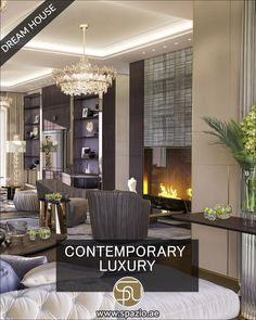 Interior Design Videos, Interior Design Dubai, Luxury Homes Interior, Contemporary Interior Design, Home Design Living Room, Interior Design Living Room, Interior Walls, Formal Living Rooms, Living Spaces