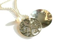 Family Tree Locket. To keep all your loved ones very close :)  Hand stamped Jewelry