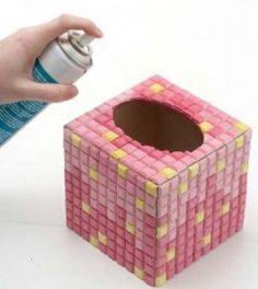 Make your own mosaic tiles in any color- with wood glue, paint, and plaster, using a rubber car mat as a mold! >> This tutorial is awesome, what a fun project. Mosaic Crafts, Mosaic Projects, Mosaic Art, Mosaic Tiles, Diy Projects, Diy Arts And Crafts, Fun Crafts, Mosaic Designs, Wood Glue