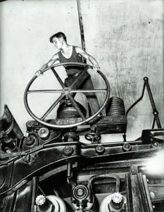 """Komsomolets at the Wheel, Balakhna"" Industrial Photo from 1931 - Dark Roasted Blend"