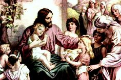 """August 13th - Matthew 19:13-15: Children were brought to Jesus that he might lay his hands on them and pray. The disciples rebuked them, but Jesus said, """"Let the children come to me, and do not prevent them; for the Kingdom of heaven belongs to such as these."""" After he placed his hands on them, he went away."""