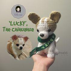 Make It: Lucky the Chihuahua - Free Crochet Pattern #crochet #amigurumi #ravelry #free