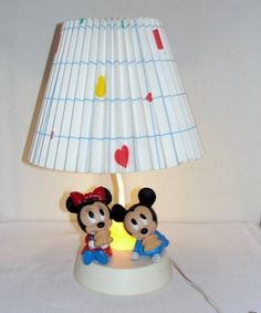 Disneys Mickey and Minnie Mouse Bedside by christinescornershop