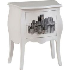 £331.95 An eye-catching addition to your contemporary living room or teen's bedroom, this eclectic made to order bedside table features a hand-decorated cityscape de...