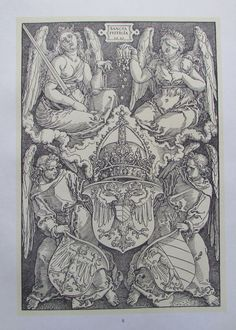 Albrecht Dürer DIE WAPPEN VON NÜRNBERG Kunstdruck Reproduktion art print deutscher Maler | eBay