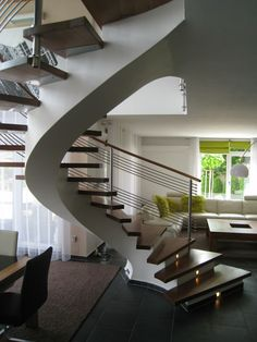 93 Stunning Modern Entrance Staircase Design Ideas - Home Sweet Spiral Stairs Design, Home Stairs Design, Interior Staircase, Stairs Architecture, Home Interior Design, House Design, Spiral Staircase, Stair Design, Staircases