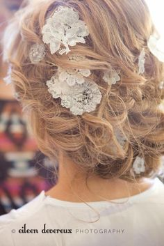 Lace Hair Flowers