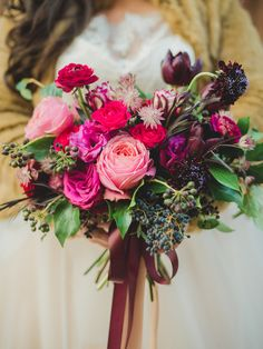 winter wedding bouquet - photo by Olive Photography http://ruffledblog.com/winter-garden-wedding-in-toronto #weddingbouquet #flowers #bouquets