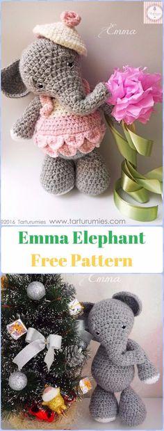 Crochet Fox Patterns: Crochet Elephant Emma Toy Free Pattern