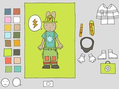Firefighter dress-up (and coloring) app -- so much fun for boys and girls!