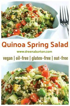 Quinoa Spring Salad #vegan #glutenfree