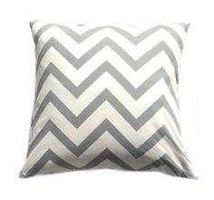 "Amazon.com - Chevron Striped Accent Decorative Cotton Canvas Throw Pillow Cover Cushion 18 X 18"" Zig Zag Chevron (Light Taupe) -"