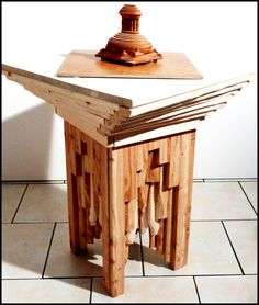 Monumentaler massiver Holztisch 40x40x50 cm von IbnRoman auf Etsy