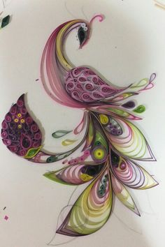 Arte Quilling, Paper Quilling Jewelry, Quilled Paper Art, Quilling Paper Craft, Quilling Cards, Paper Crafts, Paper Quilling For Beginners, Paper Quilling Tutorial, Paper Quilling Patterns
